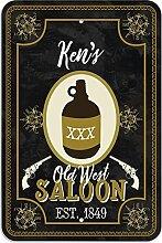 """Welcome to Ken 's Old West Saloon–Bar Pub Schild aus Western, plastik, 8"""""""" x 12"""""""" (20.3cm x 30.5cm)"""