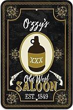 "Welcome to Ozzy 's Old West Saloon–Bar Pub Schild aus Western, plastik, 8"""" x 12"""" (20.3cm x 30.5cm)"