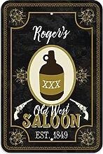 "Welcome to Roger 's Old West Saloon–Bar Pub Schild aus Western, plastik, 8"""" x 12"""" (20.3cm x 30.5cm)"