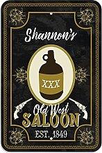 "Welcome to Shannon 's Old West Saloon–Bar Pub Schild aus Western, plastik, 8"""" x 12"""" (20.3cm x 30.5cm)"