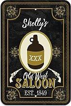 "Welcome to Shelly 's Old West Saloon–Bar Pub Schild aus Western, plastik, 8"""" x 12"""" (20.3cm x 30.5cm)"