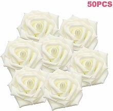 Welcomefee Künstliche Rosenblüten Köpfe,
