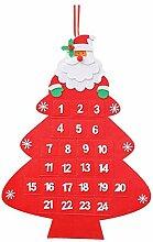 WELCOMY 3D Weihnachtsmann Filz Adventskalender