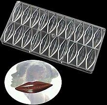 WElinks 20 Löcher Lippen Form Polycarbonat