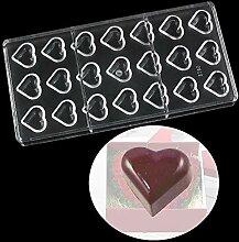 WElinks 21 Löcher Herz Form Polycarbonat