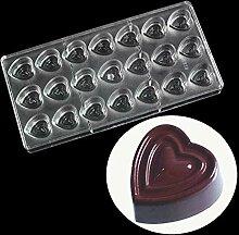 WElinks Schokoladenform in Herzform aus