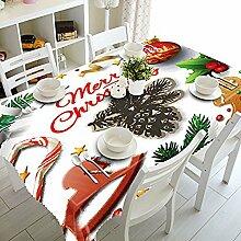 WElinks Weihnachtstischdecke, für Esszimmer- oder