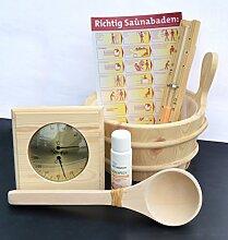 Well Solutions® 7 Tlg. Sauna Aufguss Set Zubehör Kübel Se