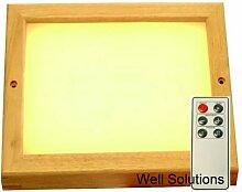 Well Solutions® LED Farblicht mit Fernbedienung Licht Therapie mit 609 LED für Sauna Kabinen ...