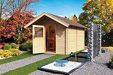Well Solutions®Luxus Aussen Sauna Gartensauna Saunahaus 3 Saunakabine