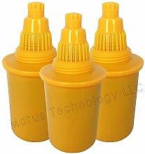 WellBlue Ersatz-Wasserfilter, basisches Wasser, kompatibel mit vielen Marken, Pionier-Design, 3 Stück Orange