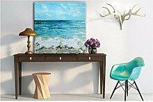 Wellen Ölgemälde modern minimalistischen Wohnzimmer Terrasse Dekoration Dekorationsmalerei Malerei abstrakt , 80*80