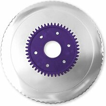 Wellenschliffmesser elektrolytisch poliert lila