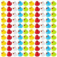 Wellgro 100 Badeenten - bunt (gelb, rot, weiß,