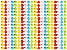 Wellgro 300 Badeenten - bunt (gelb, rot, weiß,