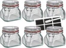 Wellgro Vorratsglas Einmachglas mit