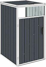 WELLIKEA Mülltonnenbox Anthrazit 72×81×121 cm