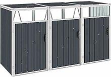 WELLIKEA Mülltonnenbox für 3 Mülltonnen