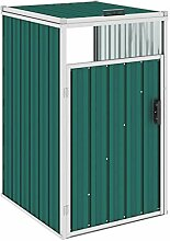 WELLIKEA Mülltonnenbox Grün 72×81×121 cm Stahl