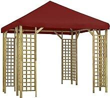 WELLIKEA Pavillon 3 x 3 m Bordeauxro