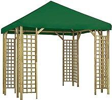 WELLIKEA Pavillon 3 x 3 m Grün