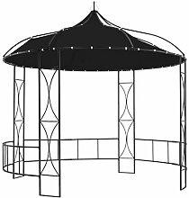 WELLIKEA Pavillon 300 x 290 cm Anthrazit Rund
