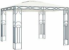 WELLIKEA Pavillon 300 x 300 cm Cremeweiß
