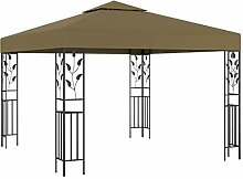 WELLIKEA Pavillon 3x3 m Taupe 180 g/m²