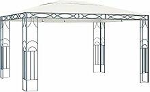 WELLIKEA Pavillon 400 x 300 cm Cremeweiß