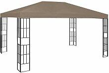 WELLIKEA Pavillon 4x3 m Taupe