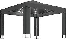 WELLIKEA Pavillon mit Doppeldach und Lichterketten
