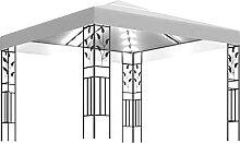 WELLIKEA Pavillon mit Lichterketten 3x3 m Wei? 180