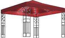 WELLIKEA Pavillon mit Lichterketten 3x3 m Weinro