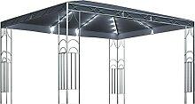 WELLIKEA Pavillon mit Lichterketten 400x300 cm