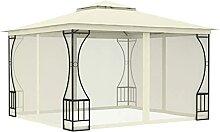 WELLIKEA Pavillon mit Vorh?ngen 300x300x265 cm