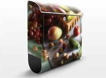 Wellness 39x46x13cm Briefkasten, Standbriefkasten, Briefkästen, Wellness, Obst, Gemüse, Genießen, Entspannen