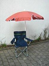 Wellness-SET-Faltstuhl d-blau+Schirm terra 150 cm + Holly ® 360° Universalgelenkhalterung GVC - 25 EUR - mit Gummischutzkappen - VERTRIEB - Holly ®Produkte STABIELO - holly-sunshade ®
