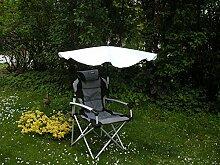 WELLNESS - SET - KOPF GEPOLSTERTER STABIELO 120 Kilo belastbarer - FALTSTUHL - Polyester gepolstert + FÄCHERSCHIRM Holly'mat - FARBE: NATUR + 360 ° Universalgelenkhalterung + 2 Windschutztampen - VERTRIEB - HOLLY PRODUKTE STABIELO ® - INNOVATIONEN MADE in GERMANY - holly-sunshade ®