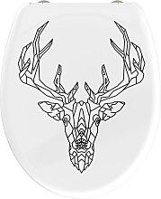 welltime WC-Sitz Geometric Deer, hochwertiger
