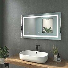 WELMAX 100x60cm Beleuchtung Badezimmerspiegel
