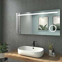 WELMAX 120x60cm Beleuchtung Badezimmerspiegel