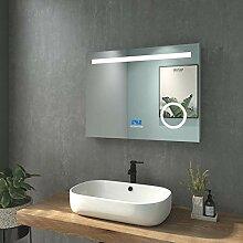 WELMAX 80x60cm Beleuchtung Badezimmerspiegel