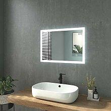 WELMAX Badspiegel mit Beleuchtung 50x70cm