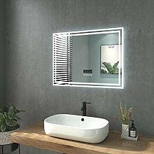 welmax Badspiegel mit Beleuchtung 80x60 cm LED
