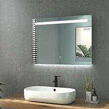 WELMAX Badspiegel mit Beleuchtung Wandspiegel