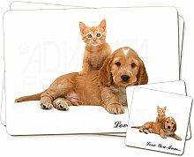 Welpe und Kätzchen 'Love You Mum'