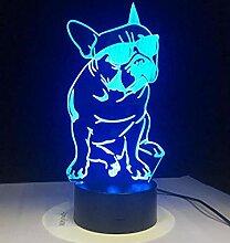 Welpen Fußabdrücke Lampe 3D Nachtlicht Alle