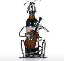 Welpen Weinflaschenhalter mit Gitarre Eisen