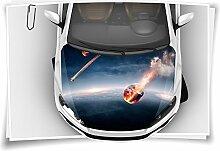 Weltall Asteroid Erde Autoaufkleber Airbrush Motorhaube Carwrapping Folie Folierung Rapidair Digitaldruck Luftkanalfolie Aufkleber Auto Tuning