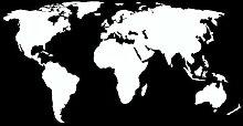Weltkarte Aufkleber in 13 Größen und 25 Farben (120x60cm weiß)
